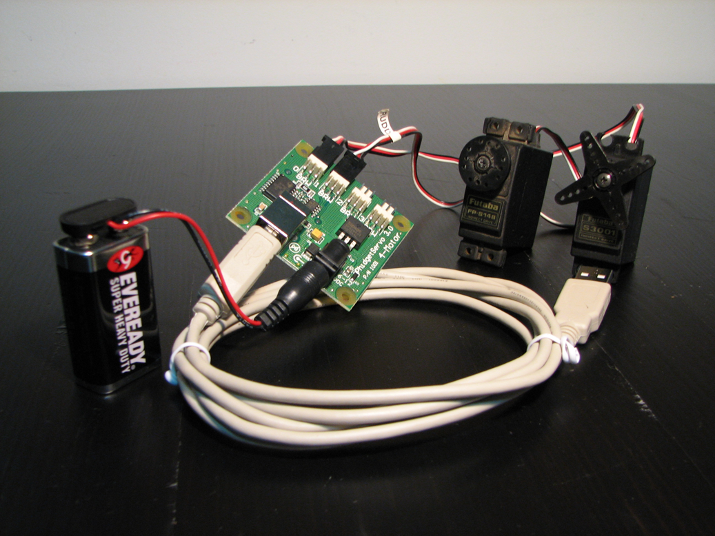 ATS hardware - H-MACS and two servos, fully connected