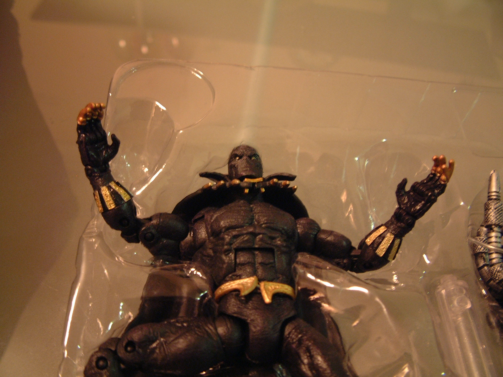 Black Panther exploding from his packaging