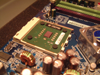 Jupiter hardware - A focused view of the CPU fitted.