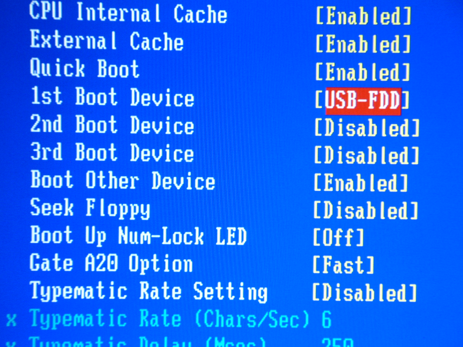 Configure USB in the BIOS