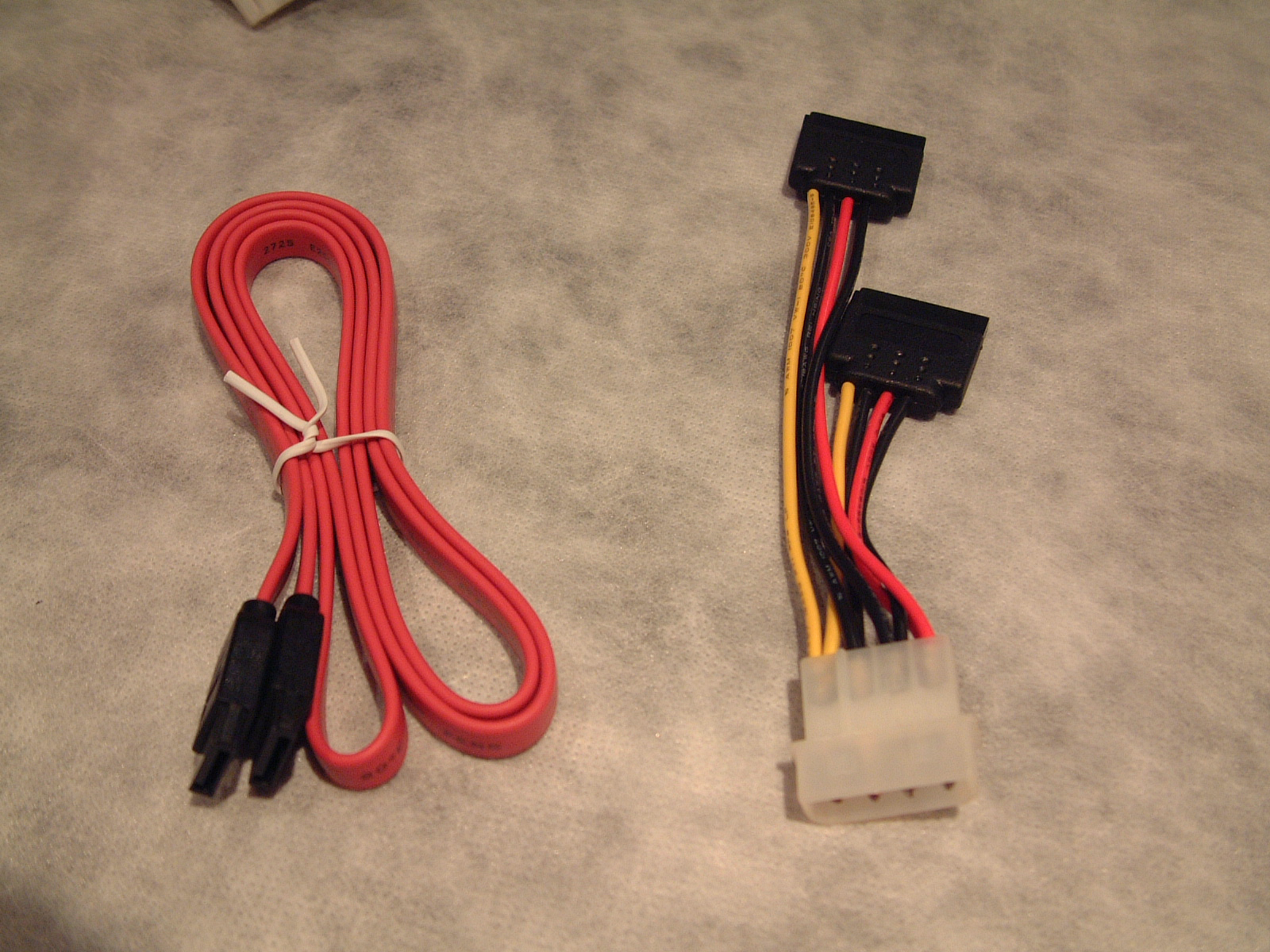 Long data and splitter power cables